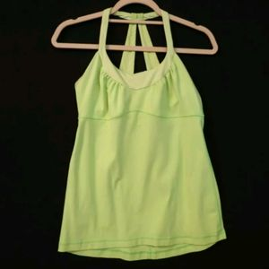 Lululemon Scoop Me Up tank green Size 8